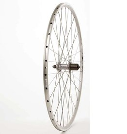 Handbuilt Wheels REAR, 700C, Wheel, Alex DA-22 Silver / FH-2400 Silver, 32 Stainless Spokes, QR Axle, 8/9 Sp. Cassette