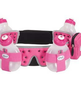FuelBelt FuelBelt, Helium, 4 bottle belt, Rose Hibiscus, L (33''-35'')