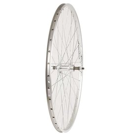 Wheel Shop, Rear 700C Wheel Alex ACE-17 Silver/ FM-31 Silver, 36 Steel Spokes, Bolt-on axle, Freewheel