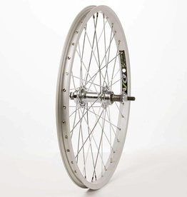 "Wheel Shop,  20"" EVO E-Tour 20 Silver/ Stainless Wheel, Rear, 20'', 36 spokes, JY-434, Bolt-on, Freewheel"