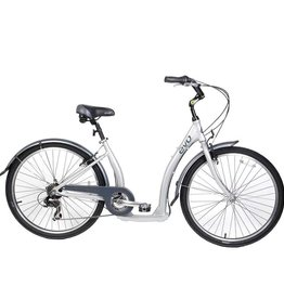 Evo EVO, Oak Hill 7-Speed City Bike, Silver (2016)