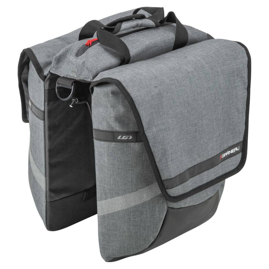 GARNEAU MIDTOWN CYCLING BAG HEATHER GRAY GRIS CHINE O/S