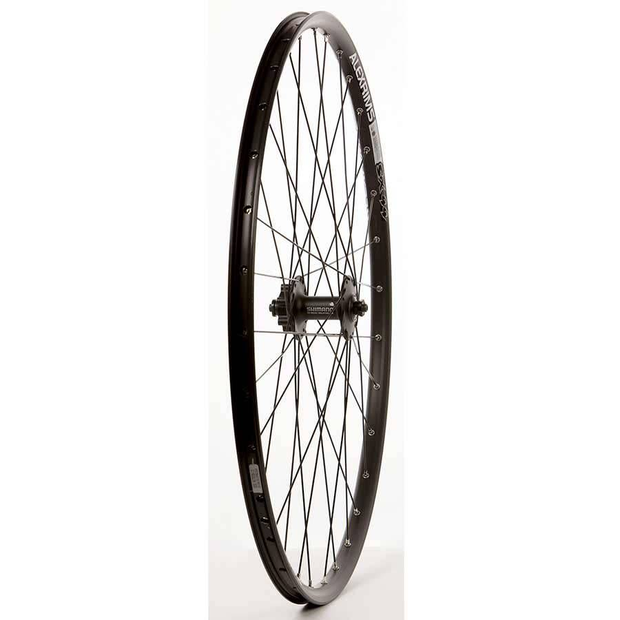 "WHEEL SHOP Frnt 29"" Wheel, 32H Black Ally Duble Wall Alex SX-44 Disc/ Black Shiman HB-M525 QR 6 Blt Disc Hub, DT Black Stainless Spkes"