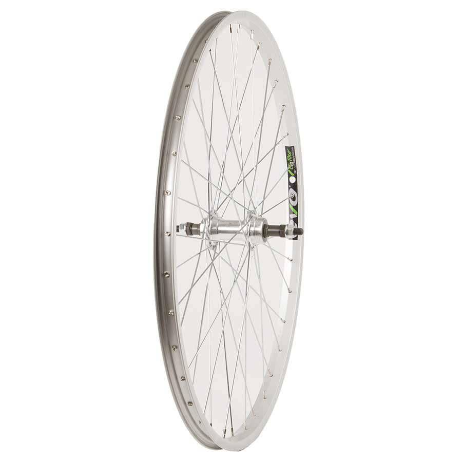 "WHEEL SHOP Wheel Shp, Rear 26"" Wheel, 36H Silver Ally Single Wall Ev E Tur 20/ Silver Frmula FM-31 Nutted Axle FW Hub, Steel Spkes"