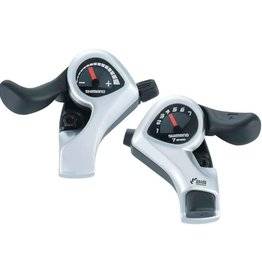Shimano SHIFT LEVER SET, SL-TX50, TOURNEY 7R&L(FRICTION) 2050X1800MM INNER, 600X600X300MM BLACK OUTER
