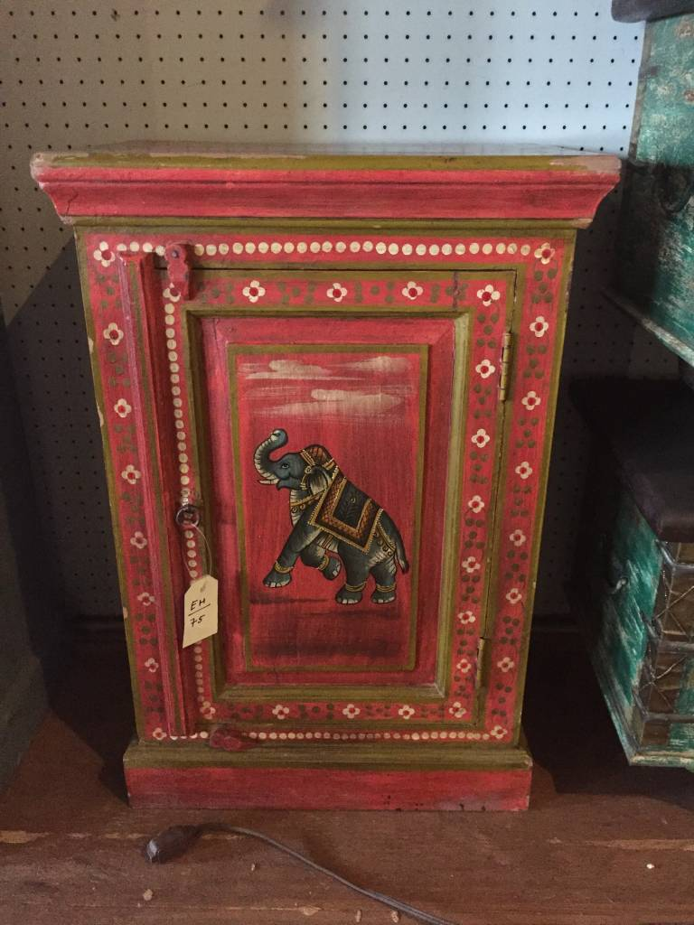 075 Small red elephant cabinet - Encore House