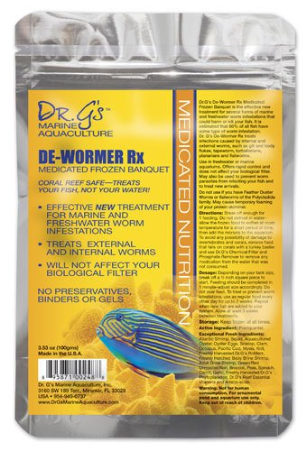 Dr. G's Marine Aquaculture Dr. G's De-Wormer Rx Flat Pack 3.5oz