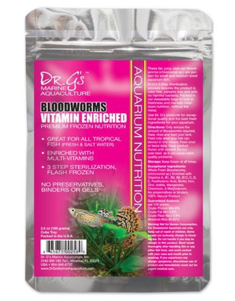Dr. G's Marine Aquaculture Dr. G's Bloodworms Vitamin Enriched 3.5oz