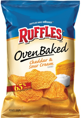 FRITO-LAY/LARGE SINGLE SERVE Baked Ruffles Cheddar & Sour Cream, LSS Bag