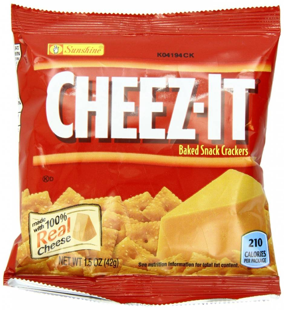 KELLOGG/KEEBLER COOKIE&CRACKER Cheez-its, Small SS Bag
