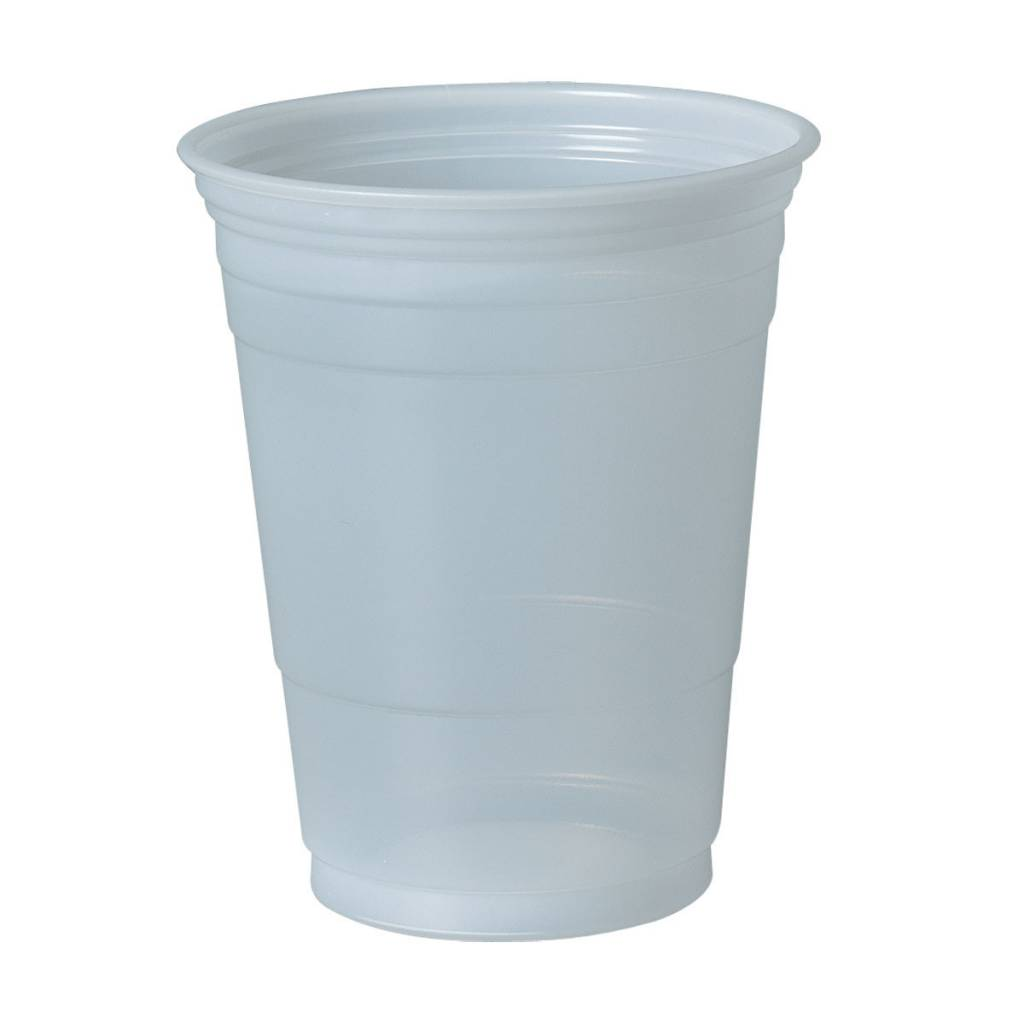 Cups,  Plastic Cold Cup, 16oz. 50ct Party Sleeve