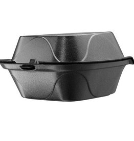 """Dart Container Hinged Cont, Black 6"""" Foam (G-1) 500ct. Case"""