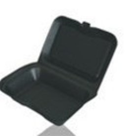 "Hinged Cont, Black 9"" 1 Comp Foam (S-1) 200ct. Case"