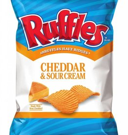 FRITO-LAY/LARGE SINGLE SERVE Ruffles Cheddar & Sour Cream, LSS Bag