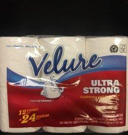 Toilet Tissue, Velure Ultra Strong 12ct. Pack
