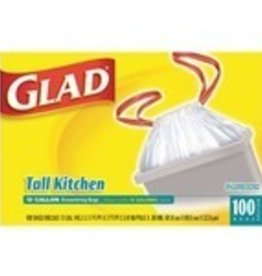 Trash Bags Can Liner, Glad w/Drawstring 13Gal 100ct. Box