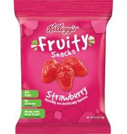 Fruit Snacks, Kellogg Strawberry 48ct. Case