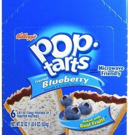 KELLOGG/KEEBLER COOKIE&CRACKER Pop Tarts, Frosted Blueberry 6ct. Box