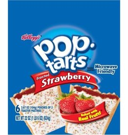 KELLOGG/KEEBLER COOKIE&CRACKER Pop Tarts, Frosted Strawberry 6ct. Box
