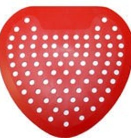 Urinal Screen, Red/Cherry (FVS-RC) 12ct. Case