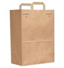 "Bag, Kraft Grocery Bag 12""x7""x17"" 1/6 Barrel 300ct."