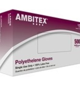 Tradex International Gloves, Polyethylene, Large 500ct. Box