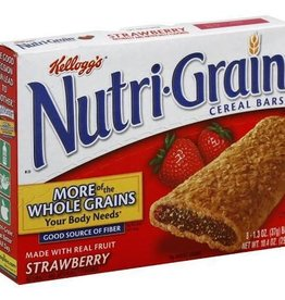 KELLOGG/KEEBLER COOKIE&CRACKER Nutri-Grain, Strawberry Cereal 8ct. Box