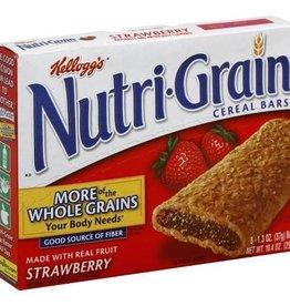Kellogg's Nutri-Grain, Strawberry Cereal 8ct. Box