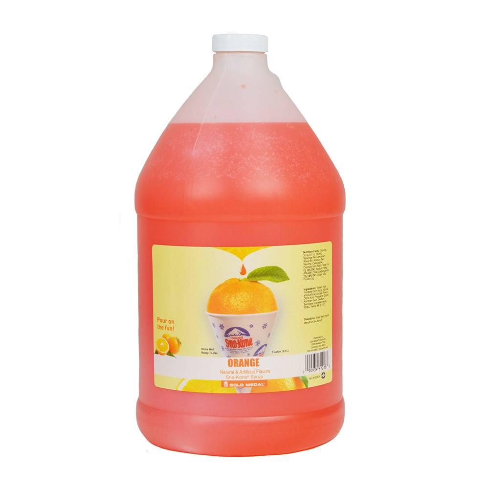 Sno-Kone Sno-Kone Syrup, Orange 1 Gallon