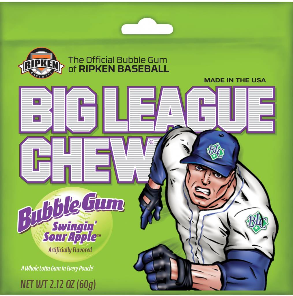 FORD GUM Big League Chew, Sour Apple 12ct. Box