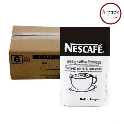 Nescafe Cappuccino, Butterfinger (Nescafe') 6/2lb. Case
