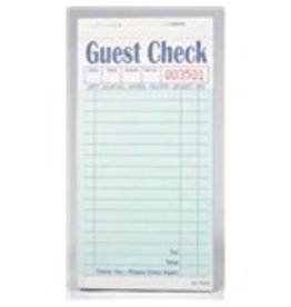 ROYAL PAPER PRODUCTS INC Guest Checks, 2-PT 15-Line Carbonless Green Booked 5/10ct/50ct Case