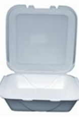 """Hinged Cont., 1 Comp. 9"""" Foam 2/100ct. Case"""