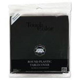 """Tablecover, Round Black Velvet Plastic 12/82"""""""