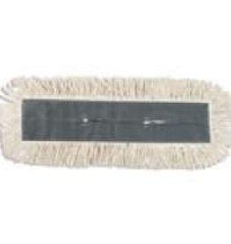 "Dust Mop Head, 5"" x 24"" white Disposable Cotton Each"
