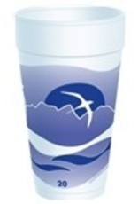 Cups, 20oz. Horizon Foam (20J16H) 20/25ct. Case