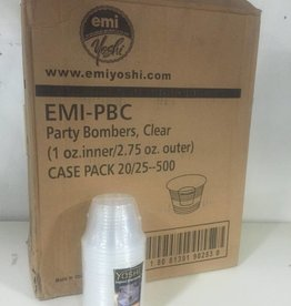 Shot Cup, Clear Party Dispos-a-Bomb Shot Cup 20/25ct. Case