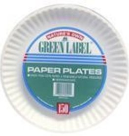 """Plates, 9"""" Uncoated White Paper Plate 100ct. Pack"""