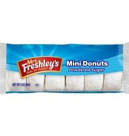 MRS. FRESHLEY'S Pastry, Powdered Donuts 6/12ct. Case
