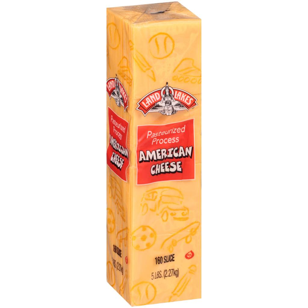 American Cheese Slices (160 slices) 5lb. Block