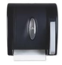 Roll Towel Dispenser, Translucent Smoke Push Paddle