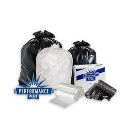 Trash Bags Can Liner, 40x46 (.59mil) Clear Hi-Density Liner 10/25ct