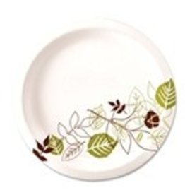"Dixie Food Service Plates, 6"" Paper Dixie 4/250ct. Case"