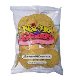 Nacho Chips, Yellow Round Chips 48/3oz. Case