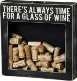 """Wine Shadow Box, """"Glass of Wine"""""""
