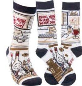 Socks, (Wine To Work) Socks 1 Pair