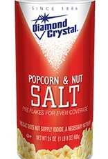 Diamond Crystal Popcorn & Nut Salt, White 12/24 oz. Case
