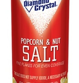 Diamond Crystal Popcorn & Nut Salt, White 12/24 oz. Case