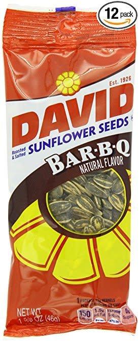 Sunflower Seeds, David's BBQ Seed 12/1.62oz.