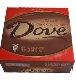 Dove Dark Chocolate Bar, 18ct. Box